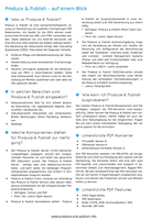 Produce & Publish - Factsheet (German only)