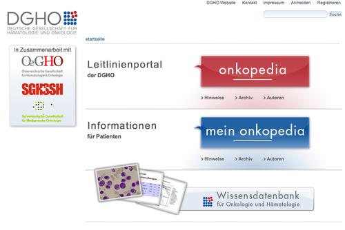 Onkopedia Portal Startseite